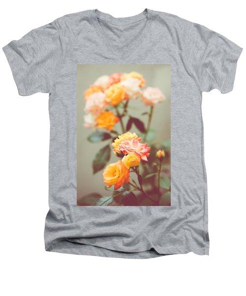 Men's V-Neck T-Shirt featuring the photograph Rumba Rose by Ari Salmela