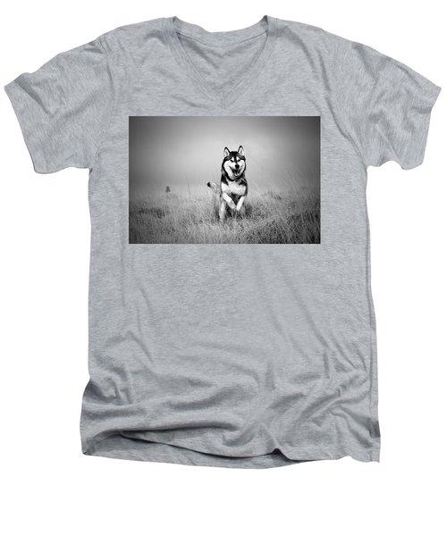 Running Wolf Men's V-Neck T-Shirt