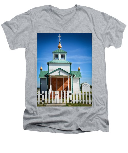 Russian Orthodox Church Men's V-Neck T-Shirt by Andrew Matwijec