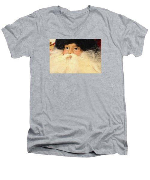 Russian Santa Men's V-Neck T-Shirt by Nadalyn Larsen