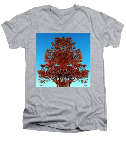 Men's V-Neck T-Shirt featuring the photograph Rust And Sky 2 - Abstract Art Photo by Marianne Dow