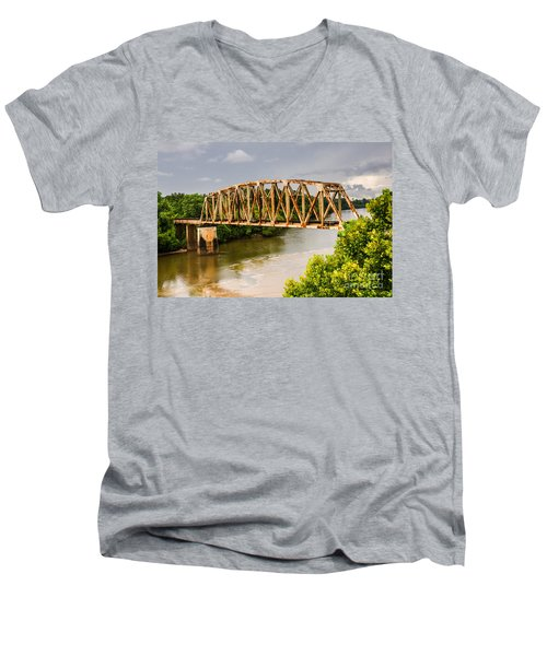 Rusty Old Railroad Bridge Men's V-Neck T-Shirt