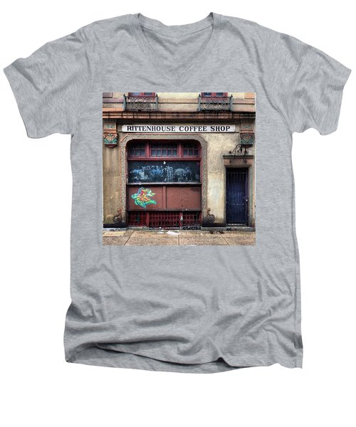 Rusty Rittenhouse Men's V-Neck T-Shirt by Katie Cupcakes