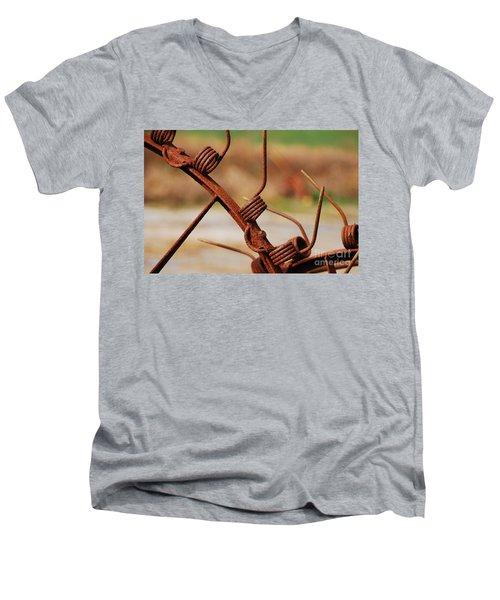 Rusty Tines Men's V-Neck T-Shirt