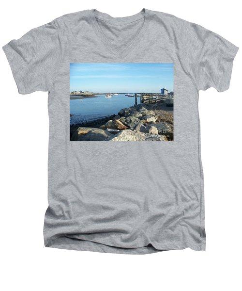 Rye Harbor  Men's V-Neck T-Shirt
