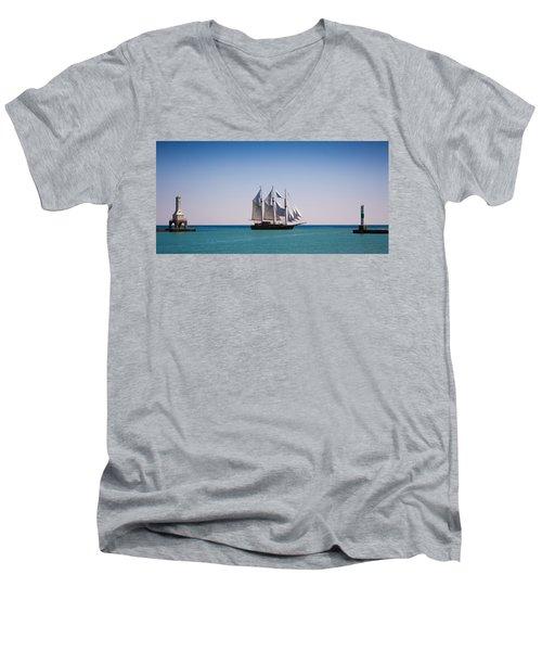 s/v Peacemaker Opening Men's V-Neck T-Shirt