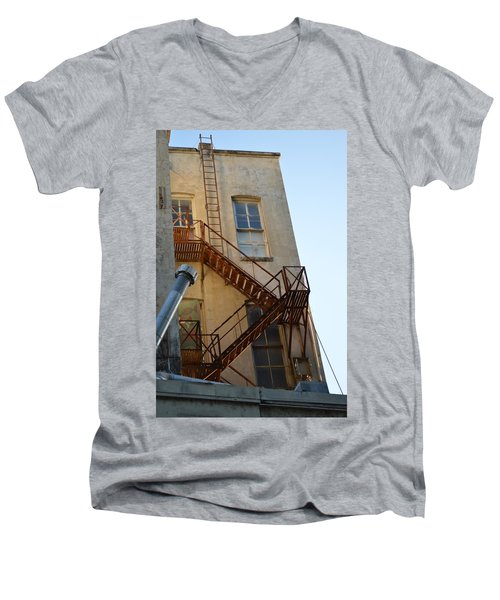 Men's V-Neck T-Shirt featuring the photograph Sa 001  by Shawn Marlow