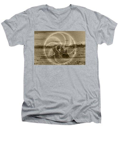 Sacred Rabbit Men's V-Neck T-Shirt by Deprise Brescia