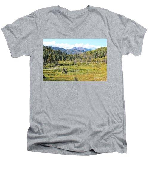 Saddle Mountain Men's V-Neck T-Shirt