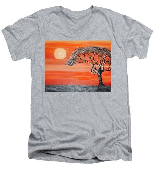 Safari Sunset 2 Men's V-Neck T-Shirt