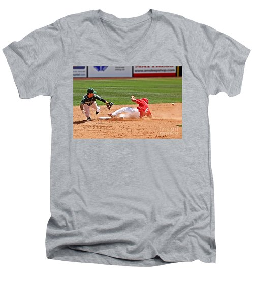 Safe At Second Men's V-Neck T-Shirt