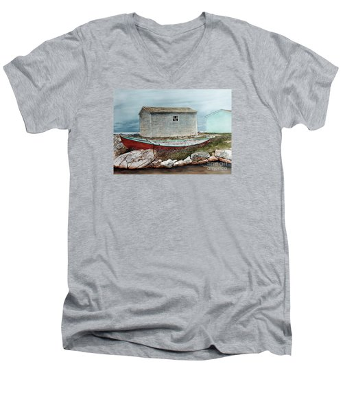 Safe From The Storm Men's V-Neck T-Shirt