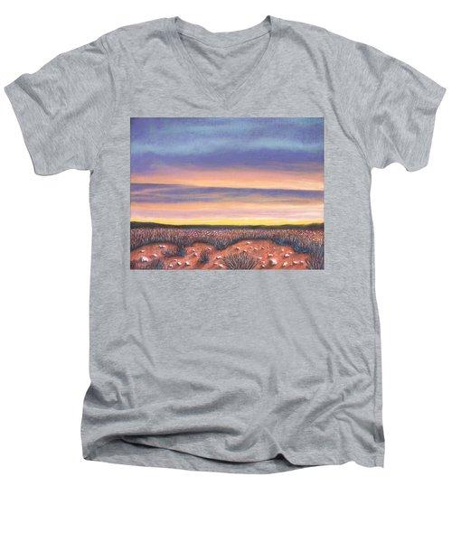 Sagebrush Sunset A Men's V-Neck T-Shirt