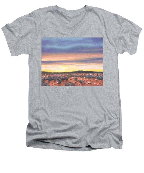Sagebrush Sunset B Men's V-Neck T-Shirt