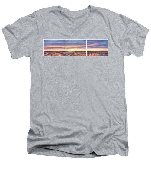 Sagebrush Sunset Triptych Men's V-Neck T-Shirt