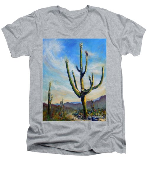 Saguaro Cacti Men's V-Neck T-Shirt