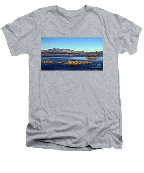 Men's V-Neck T-Shirt featuring the photograph Sail Away by Tammy Espino