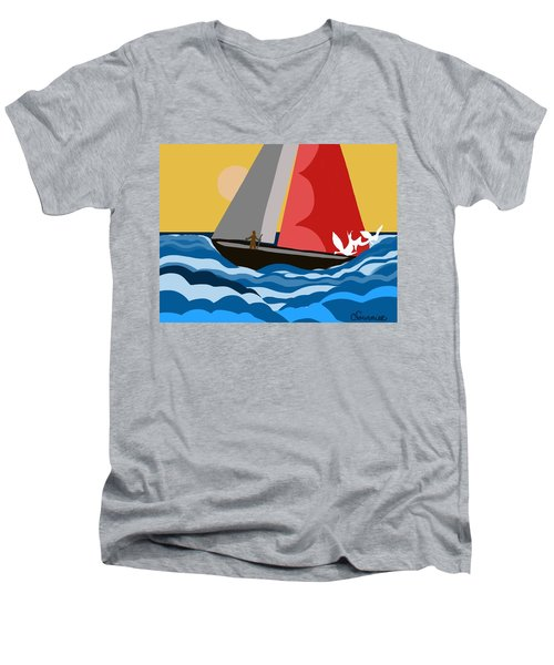 Sail Day Men's V-Neck T-Shirt