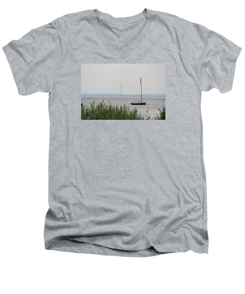 Men's V-Neck T-Shirt featuring the photograph Sailboat by David Jackson