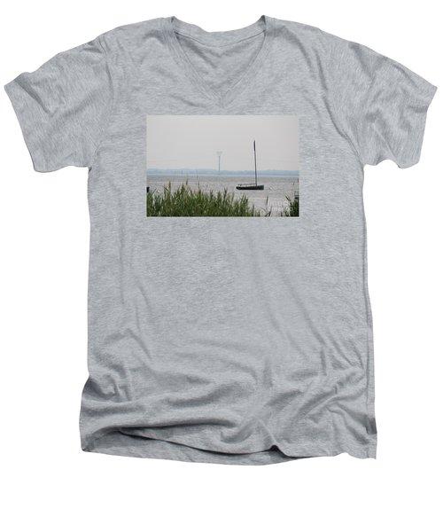 Sailboat Men's V-Neck T-Shirt by David Jackson