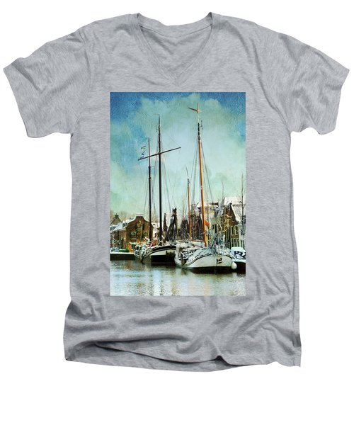 Sailboats Men's V-Neck T-Shirt