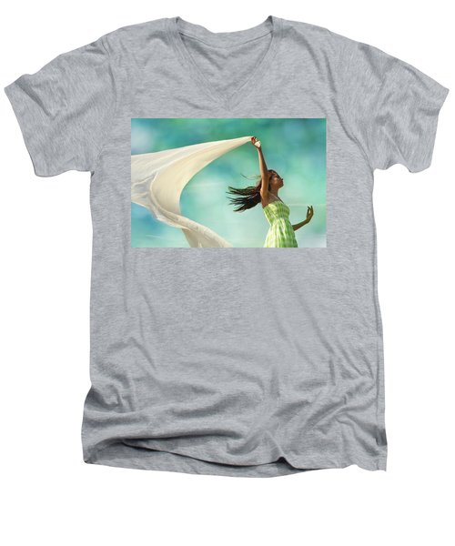 Sailing A Favorable Wind Men's V-Neck T-Shirt