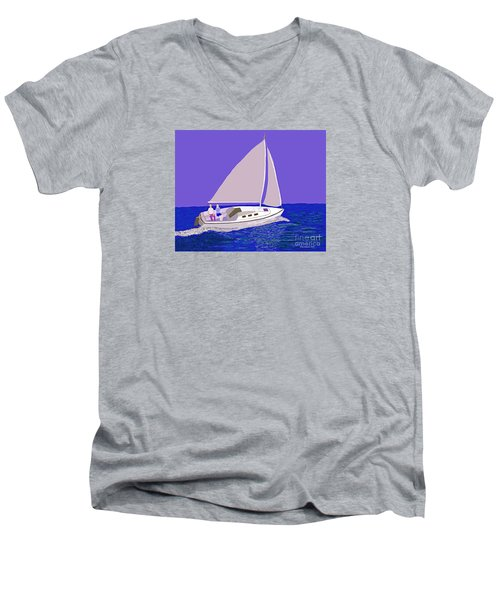 Sailing Blue Ocean Men's V-Neck T-Shirt