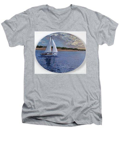 Sailing Homeward Bound Men's V-Neck T-Shirt
