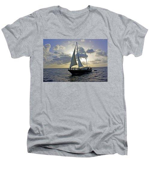 Sailing In Aruba Men's V-Neck T-Shirt