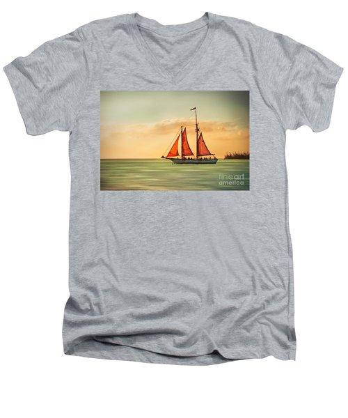 Sailing Into The Sun Men's V-Neck T-Shirt