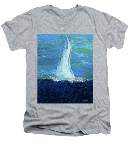 Sailing On The Blue Men's V-Neck T-Shirt