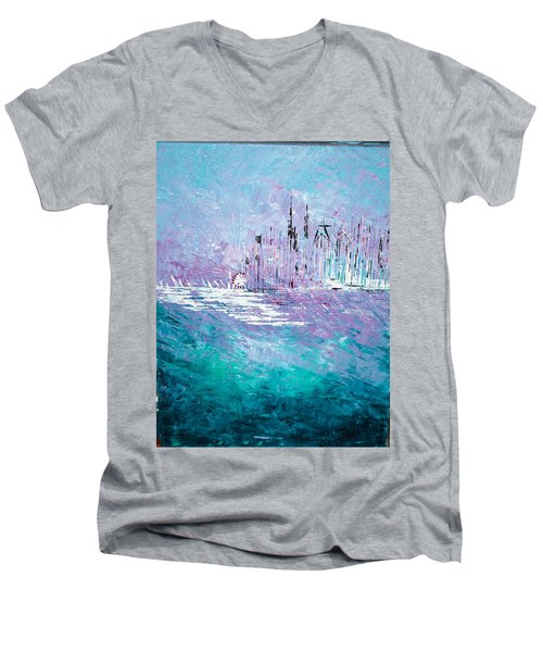 Sailing South - Sold Men's V-Neck T-Shirt by George Riney