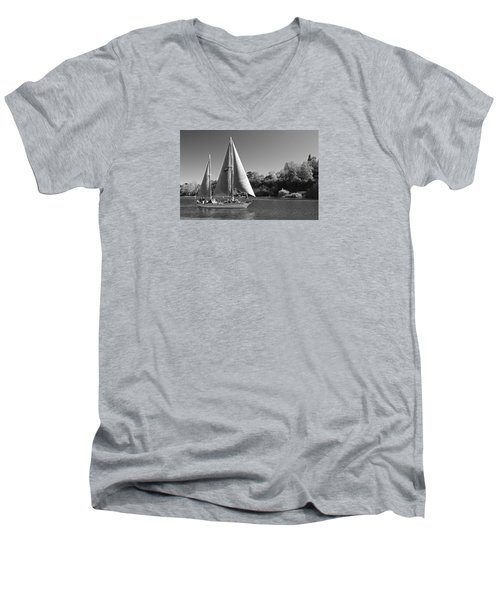 The Fearless On Lake Taupo Men's V-Neck T-Shirt