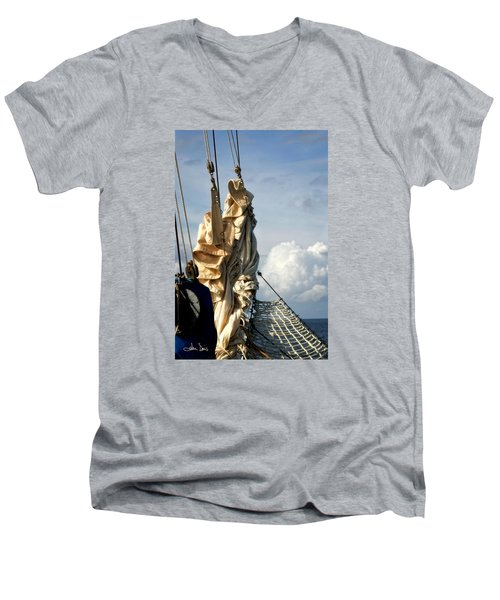 Sails Men's V-Neck T-Shirt by Joan Davis