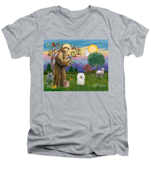 Saint Francis Blesses A Bolognese Men's V-Neck T-Shirt