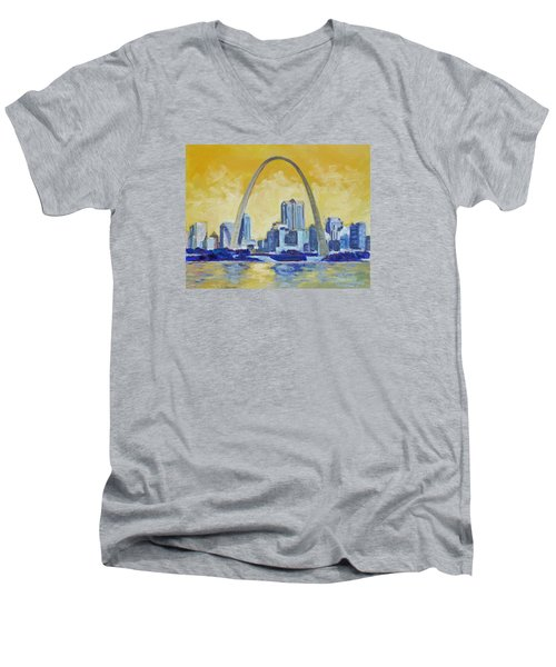 Saint Louis Skyline 1 Men's V-Neck T-Shirt