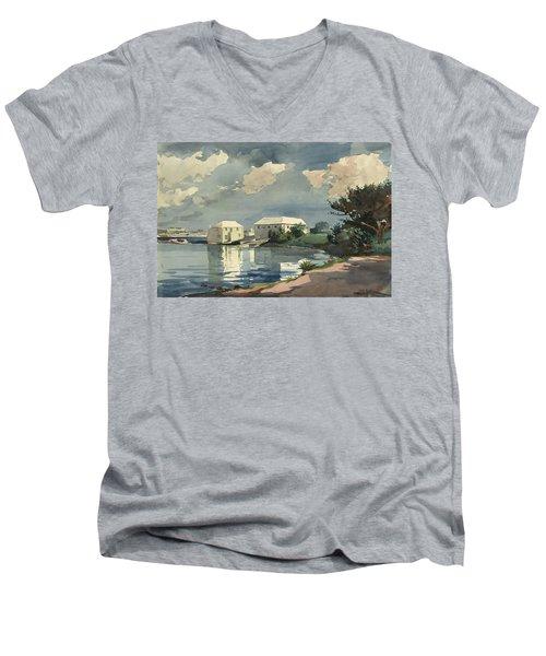 Salt Kettle Bermuda Men's V-Neck T-Shirt