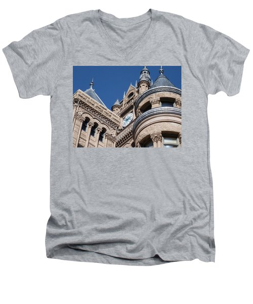 Men's V-Neck T-Shirt featuring the photograph Salt Lake City - City Hall - 1 by Ely Arsha