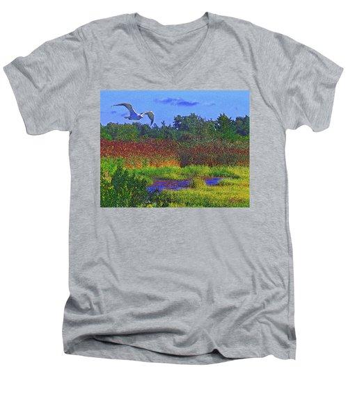 Salt Marsh Gull Men's V-Neck T-Shirt