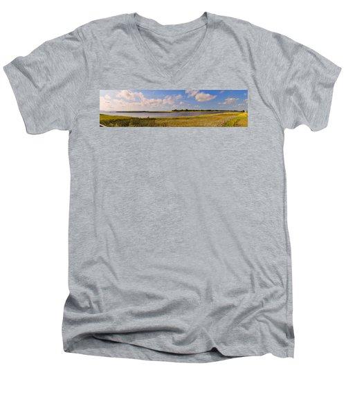 Salt Marsh Morning - Southport Men's V-Neck T-Shirt