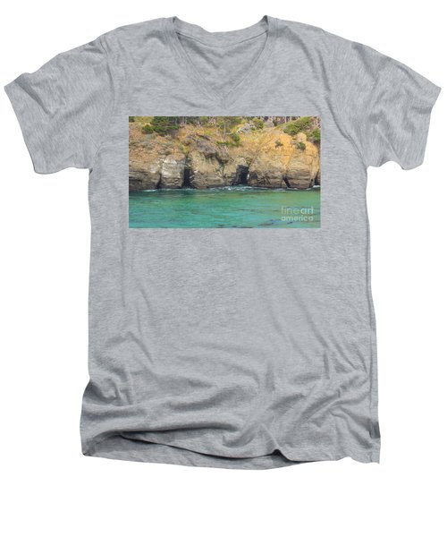 Salt Point Sea Caves Men's V-Neck T-Shirt