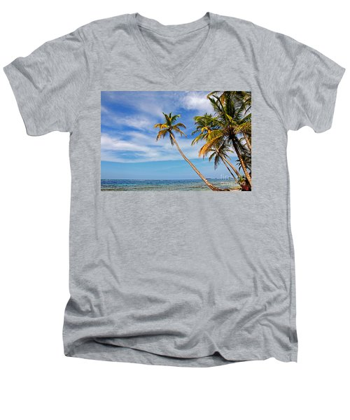 San Blas Dreaming Men's V-Neck T-Shirt by Bob Hislop