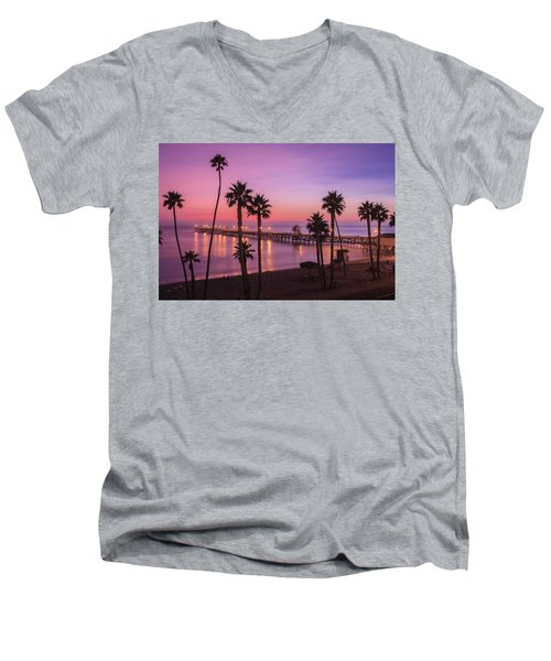 San Clemente Sunset Meditation Men's V-Neck T-Shirt