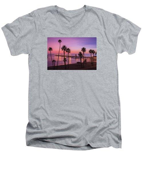 San Clemente Sunset Meditation Men's V-Neck T-Shirt