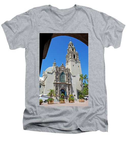 San Diego Museum Of Man Men's V-Neck T-Shirt by Claudia Ellis
