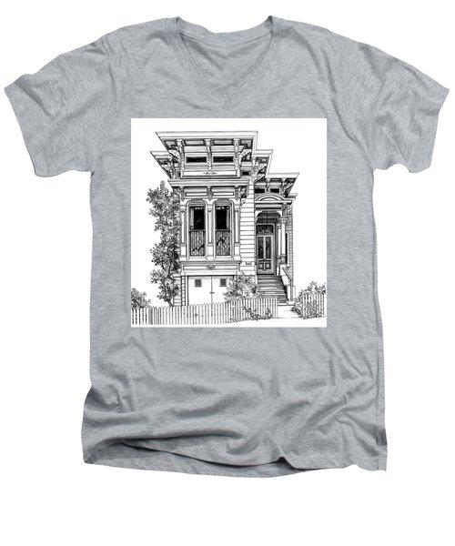 San Fracisco Victorian2 Men's V-Neck T-Shirt