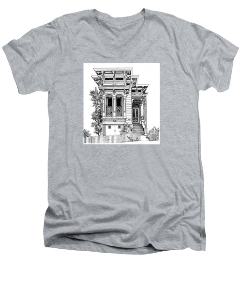 San Fracisco Victorian2 Men's V-Neck T-Shirt
