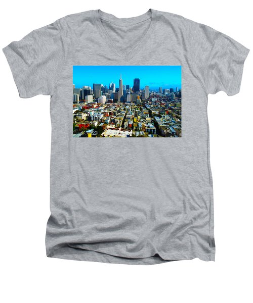 San Fran Colors Men's V-Neck T-Shirt