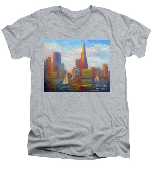 San Francisco Reflections Men's V-Neck T-Shirt
