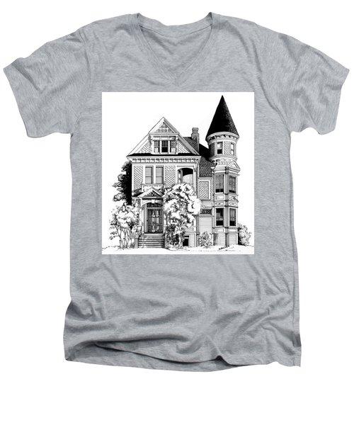 San Francisco Victorian Men's V-Neck T-Shirt